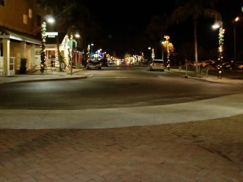 The downtown at night